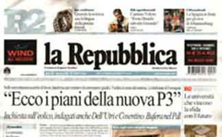 la Repubblica del 13 luglio 2010 - rassegna stampa - Prof. Nicola Sorrentino