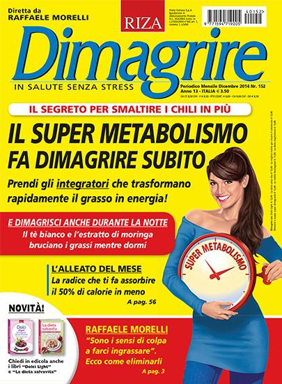 Dimagrire n.152 di dicembre 2014 - rassegna stampa - Prof. Nicola Sorrentino