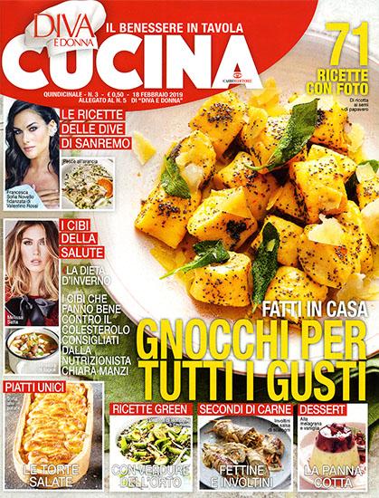 Diva Cucina n.3 del 5 febbraio 2020 - allegato Diva e Donna n.5 - rassegna stampa - Prof. Nicola Sorrentino