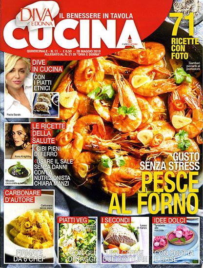 Diva Cucina n.11 del 28 maggio 2019 - allegato Diva e Donna n.21 - rassegna stampa - Prof. Nicola Sorrentino