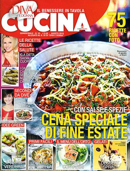 Diva Cucina n.18 del 3 agosto 2019 - allegato Diva e Donna n.35 - rassegna stampa - Prof. Nicola Sorrentino