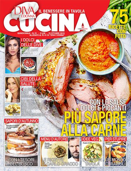 Diva Cucina n.21 del 15 ottobre 2019 - allegato Diva e Donna n.41 - rassegna stampa - Prof. Nicola Sorrentino