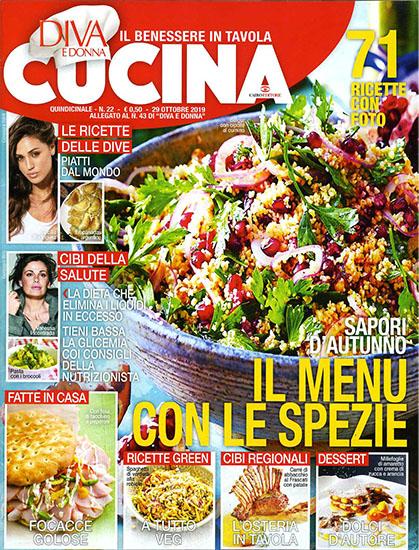 Diva Cucina n.22 del 29 ottobre 2019 - allegato Diva e Donna n.43 - rassegna stampa - Prof. Nicola Sorrentino