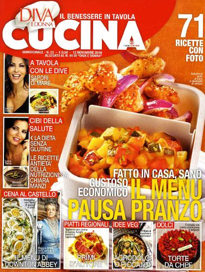 Diva Cucina n.23 del 12 novembre 2019 - allegato Diva e Donna n.45 - rassegna stampa - Prof. Nicola Sorrentino