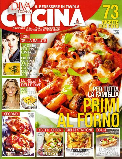 Diva Cucina n.24 del 26 novembre 2019 - allegato Diva e Donna n.47 - rassegna stampa - Prof. Nicola Sorrentino