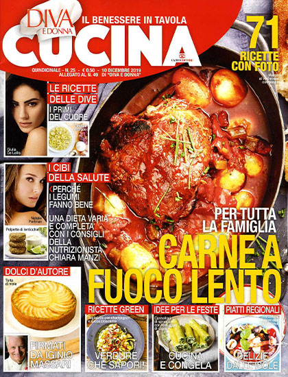 Diva Cucina n.25 del 10 dicembre 2019 - allegato Diva e Donna n.49 - rassegna stampa - Prof. Nicola Sorrentino