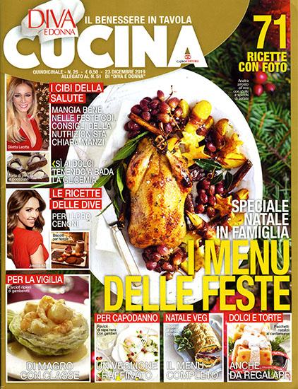 Diva Cucina n.26 del 23 dicembre 2019 - allegato Diva e Donna n.51 - rassegna stampa - Prof. Nicola Sorrentino