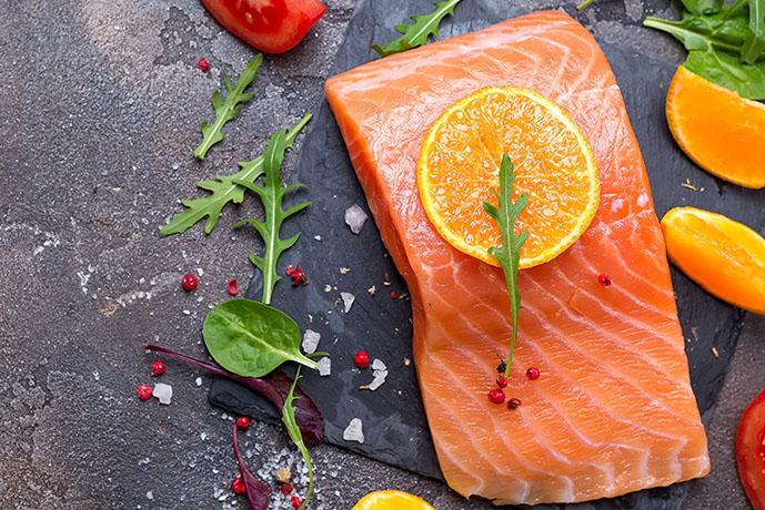 Salmone crudo con arance e pomodori - Prof. Nicola Sorrentino