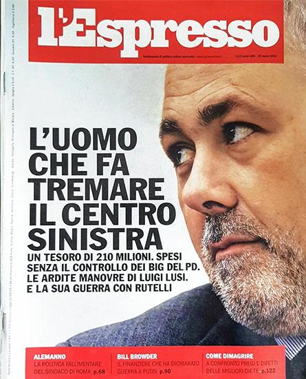 l'Espresso n.12 del 22 marzo 2012 - rassegna stampa - Prof. Nicola Sorrentino