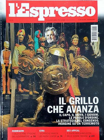 l'Espresso n.45 dell'8 novembre 2012 - rassegna stampa - Prof. Nicola Sorrentino