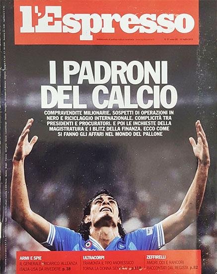 l'Espresso n.27 del 11 luglio 2013 - rassegna stampa - Prof. Nicola Sorrentino