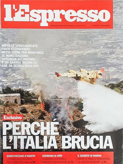 l'Espresso n.33 del 22 agosto 2013 - rassegna stampa - Prof. Nicola Sorrentino
