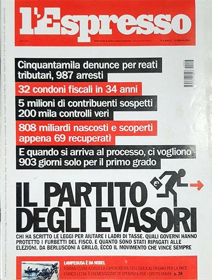 l'Espresso n.6 del 13 febbraio 2014 - rassegna stampa - Prof. Nicola Sorrentino