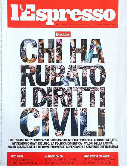 l'Espresso n.39 del 2 ottobre 2014 - rassegna stampa - Prof. Nicola Sorrentino