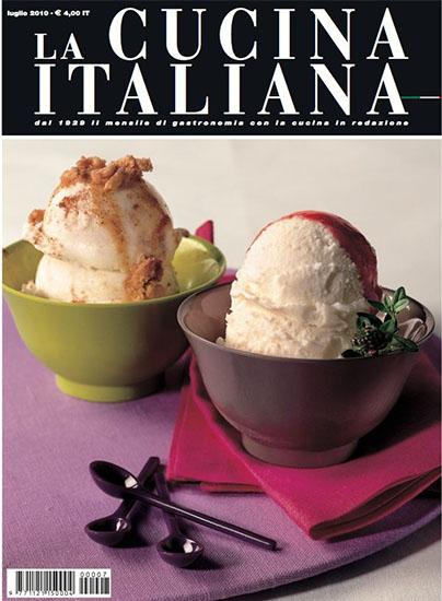 La Cucina Italiana di luglio 2010 - rassegna stampa - Prof. Nicola Sorrentino