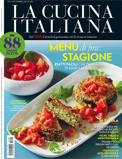 La Cucina Italiana n.9 di settembre 2015 - rassegna stampa - Prof. Nicola Sorrentino