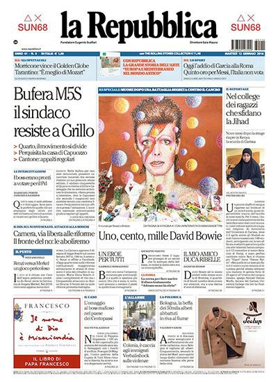 la Repubblica n.9 del 12 gennaio 2016 - rassegna stampa - Prof. Nicola Sorrentino