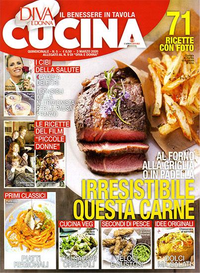 Diva Cucina n.5 del 3 marzo 2020 - allegato Diva e Donna n.9 - rassegna stampa - Prof. Nicola Sorrentino