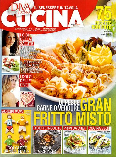 Diva Cucina n.6 del 17 marzo 2020 - allegato Diva e Donna n.11 - rassegna stampa - Prof. Nicola Sorrentino