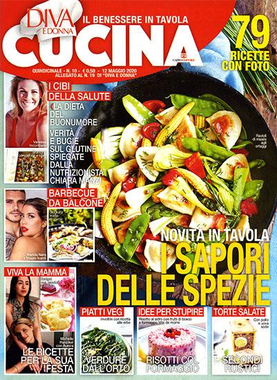 Diva Cucina n.10 del 12 maggio 2020 - allegato Diva e Donna n.19 - rassegna stampa - Prof. Nicola Sorrentino