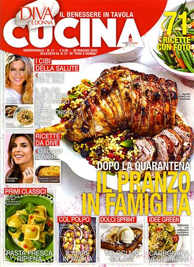 Diva Cucina n.11 del 26 maggio 2020 - allegato Diva e Donna n.21 - rassegna stampa - Prof. Nicola Sorrentino