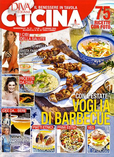 Diva Cucina n.13 del 23 giugno 2020 - allegato Diva e Donna n.25 - rassegna stampa - Prof. Nicola Sorrentino