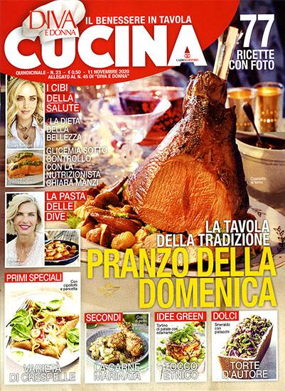 Diva Cucina n.23 dell'11 novembre 2020 - allegato Diva e Donna n.45 - rassegna stampa - Prof. Nicola Sorrentino