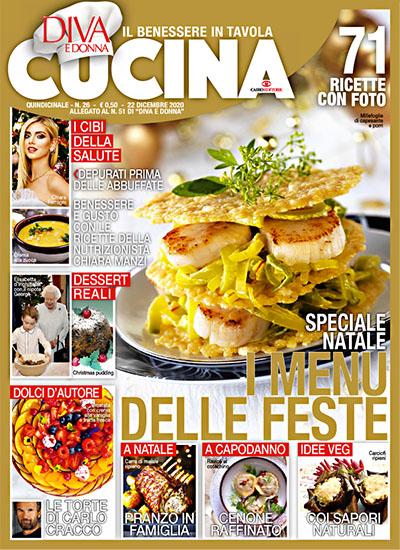 Diva Cucina n.26 del 22 dicembre 2020 - allegato Diva e Donna n.45 - rassegna stampa - Prof. Nicola Sorrentino