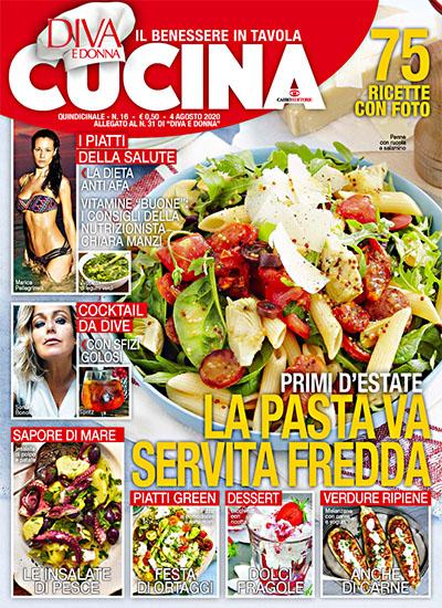 Diva Cucina n.16 del 4 agosto 2020 - allegato Diva e Donna n.31 - rassegna stampa - Prof. Nicola Sorrentino