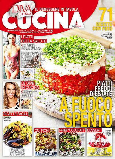 Diva Cucina n.18 dell'1 settembre 2020 - allegato Diva e Donna n.35 - rassegna stampa - Prof. Nicola Sorrentino