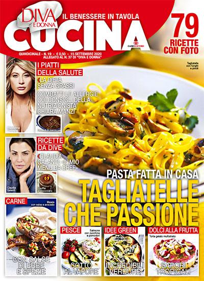 Diva Cucina n.19 del 15 settembre 2020 - allegato Diva e Donna n.37 - rassegna stampa - Prof. Nicola Sorrentino