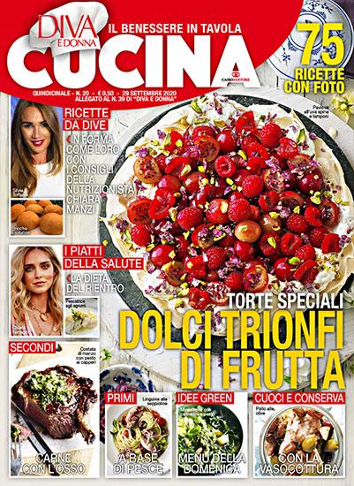 Diva Cucina n.20 del 29 settembre 2020 - allegato Diva e Donna n.39 - rassegna stampa - Prof. Nicola Sorrentino