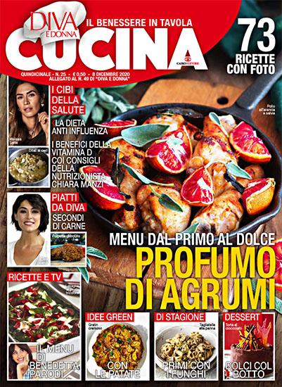 Diva Cucina n.25 dell'8 dicembre 2020 - allegato Diva e Donna n.49 - rassegna stampa - Prof. Nicola Sorrentino