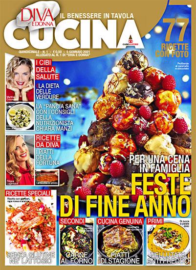 Diva Cucina n.1 del 5 gennaio 2021 - allegato Diva e Donna n.1 - rassegna stampa - Prof. Nicola Sorrentino