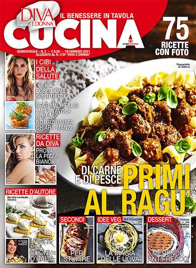 Diva Cucina n.2 del 19 gennaio 2021 - allegato Diva e Donna n.3 - rassegna stampa - Prof. Nicola Sorrentino