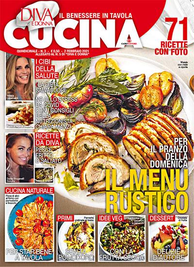 Diva Cucina n.3 del 2 febbraio 2021 - allegato Diva e Donna n.11 - rassegna stampa - Prof. Nicola Sorrentino