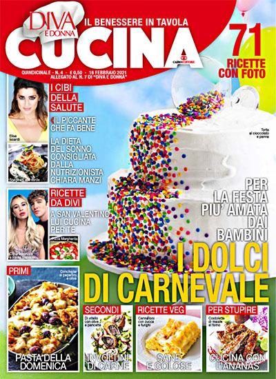 Diva Cucina n.4 del 16 febbraio 2021 - allegato Diva e Donna n.11 - rassegna stampa - Prof. Nicola Sorrentino