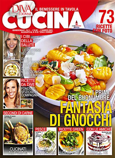 Diva Cucina n.5 del 2 marzo 2021 - allegato Diva e Donna n.9 - rassegna stampa - Prof. Nicola Sorrentino