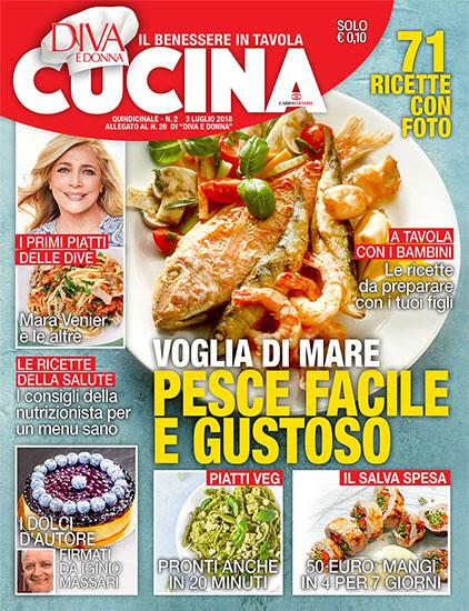 Diva Cucina n.2 del 3 luglio 2018 - allegato Diva e Donna n.26 - rassegna stampa - Prof. Nicola Sorrentino