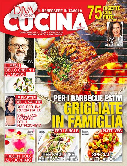 Diva Cucina n.3 del 10 luglio 2018 - allegato Diva e Donna n.27 - rassegna stampa - Prof. Nicola Sorrentino