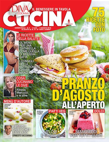 Diva Cucina n.5 del 7 agosto 2018 - allegato Diva e Donna n.31 - rassegna stampa - Prof. Nicola Sorrentino