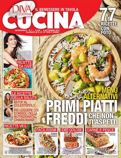 Diva Cucina n.7 del 4 settembre 2018 - allegato Diva e Donna n.35 - rassegna stampa - Prof. Nicola Sorrentino