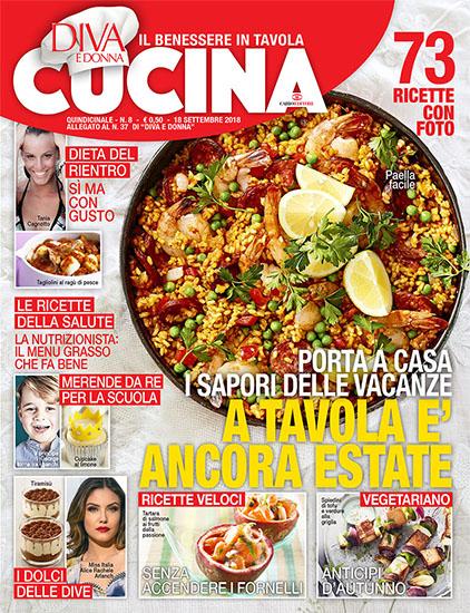 Diva Cucina n.8 del 10 settembre 2018 - allegato Diva e Donna n.37 - rassegna stampa - Prof. Nicola Sorrentino