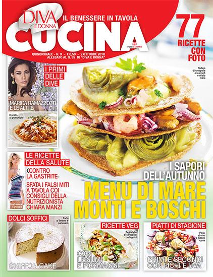 Diva Cucina n.9 del 2 ottobre 2018 - allegato Diva e Donna n.39 - rassegna stampa - Prof. Nicola Sorrentino