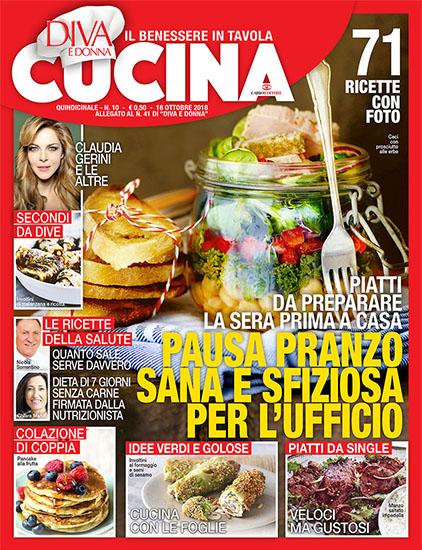 Diva Cucina n.10 del 16 ottobre 2018 - allegato Diva e Donna n.41 - rassegna stampa - Prof. Nicola Sorrentino