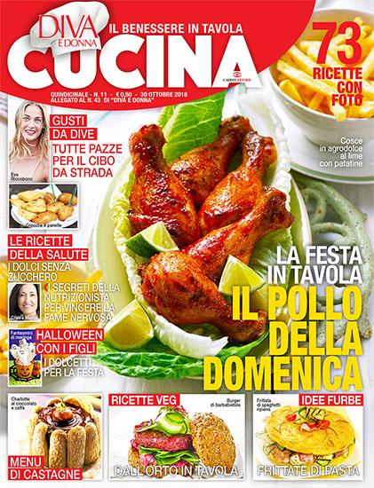 Diva Cucina n.11 del 30 ottobre 2018 - allegato Diva e Donna n.43 - rassegna stampa - Prof. Nicola Sorrentino