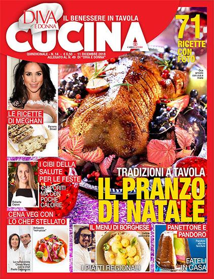 Diva Cucina n.14 dell'11 novembre 2018 - allegato Diva e Donna n.49 - rassegna stampa - Prof. Nicola Sorrentino