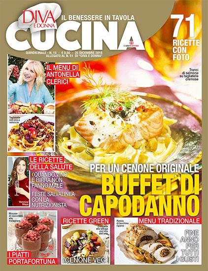 Diva Cucina n.15 del 25 dicembre 2018 - allegato Diva e Donna n.51 - rassegna stampa - Prof. Nicola Sorrentino