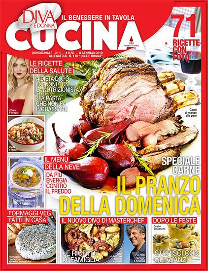 Diva Cucina n.1 dell'8 gennaio 2019 - allegato Diva e Donna n.1 - rassegna stampa - Prof. Nicola Sorrentino