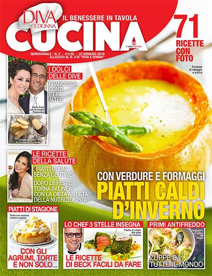 Diva Cucina n.2 del 22 gennaio 2019 - allegato Diva e Donna n.3 - rassegna stampa - Prof. Nicola Sorrentino